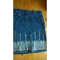 Юбка джинсовая р.152-158 см