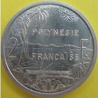 1к Французкая Полинезия 2 франка 1965 В ХОЛДЕРЕ распродажа коллекции