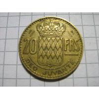 Монако 20франков1951г.