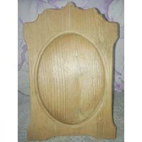 Антикварная  деревянная рамка 25х15,5 см