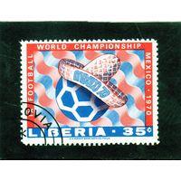 Либерия. Ми- Чемпионат мира по футболу. Мексика. 1970.