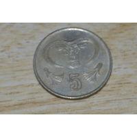 5 центов 1998 Кипр КМ# 55.3 никелевая латунь