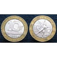 W: Франция 10 франков 1989 (1103)