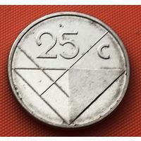 116-21 Аруба, 25 центов 2008 г. Единственное предложение монеты данного типа на АУ