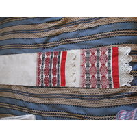 Редкий рушник полотенце 2 домотканый лен вышивка орнамент кружева