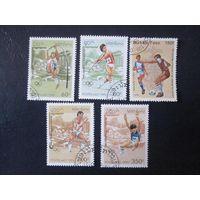 Олимпийские игры в Атланте 1995 (Лаос) 5 марок ПОЛНАЯ СЕРИЯ