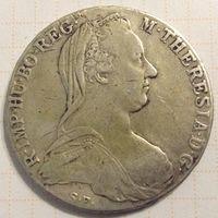 Талер 1780г Австро-Венгрия старый чекан ( не рестрайк )