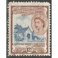 Сент-Кристофор Невис и Ангилья. Гробница Т.Уорнера. Мореход. 1954г. Mi#121.