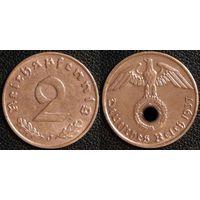 YS: Германия, Третий Рейх, 2 рейхспфеннига 1937J, КМ# 90
