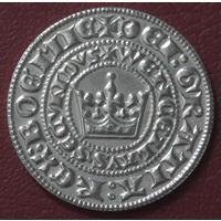 """Монета Чехия """"Пражский грош"""" Венцеслава II Божьей милостью короля Богемии копия"""