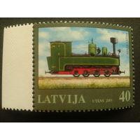 Латвия 2001 паровоз