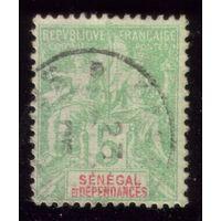 1 марка 1892 год Сенегал 11