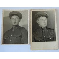 Фото солдата 1945г. Размер 8.5-11.5 см, 8.5-13.3 см. 2 шт.
