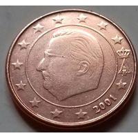1 евроцент, Бельгия 2001 г.