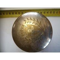 Коробочка Шкатулка Бронза Серебрение Герб