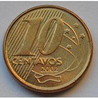 Бразилия 10 сентаво, 2002 г.