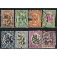 Финляндия 1925-27 Герб Стандарт ВЗ #113,116,119-23,128