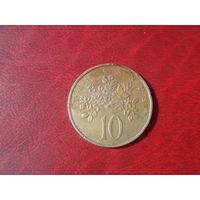 10 цент 1969 год Ямайка