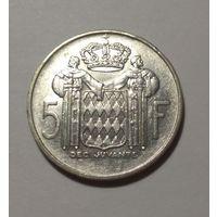 Монако 5 франков, 1960 год