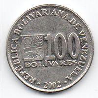 БОЛИВАРИАНСКАЯ РЕСПУБЛИКА ВЕНЕСУЭЛА . 100 БОЛИВАРОВ 2002