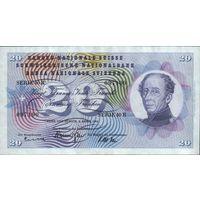 Швейцария 20 франков 1964 г.