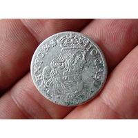 Польша 6 грошей 1662г.