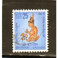 """Шри-Ланка.Ми-301.""""Облачная девочка"""", фреска """"Сигирия-рок 5-й день"""".1958."""