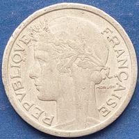 1 франк 1948 Франция KM# 885a.1 алюминий