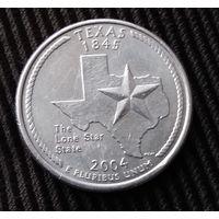 25  центов КВОТЕР  2004 США   Техас