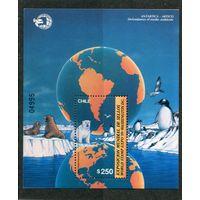 Чили. Антарктида. Номерной выставочный блок