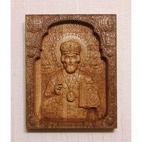 Икона Николая Чудотворца из дерева