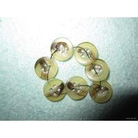 Пуговицы рубашечные в бежево-коричневых тонах