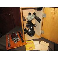 Микроскоп МБИ-1,аппарат рисовальный РА-4,насадка бинокулярная АУ-12,как новое 1949 г.