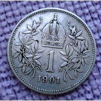 Австро-Венгрия. 1 крона 1901 г. -2