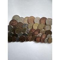 Сборный лот монет Западной Европы. 45 штук.