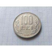 Румыния 100 леев, 1991