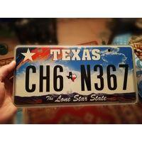 Автомобильный номерной знак США штат Техас
