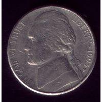 5 центов 1993 год D США
