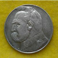 10 злотых 1937 г Пилсудский Нечастый
