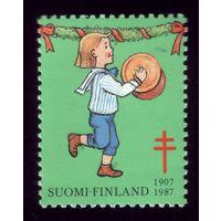 1 марка 1987 год Финляндия Благотворительная