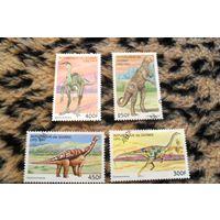 Динозавры на марках Гвинеи