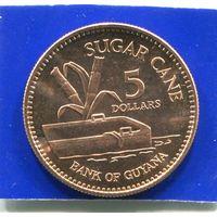 Гайана 5 долларов 2002 UNC
