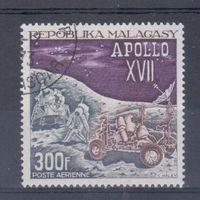 [504] Мадагаскар 1973. Космос США. Гашеная марка.Одиночный выпуск.