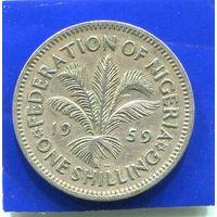 Нигерия 1 шиллинг 1959
