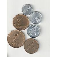 Набор монет Словении 10,20,50 стотинов и 1,2,5 толарев 1992-2000 годов (6 штук) 30