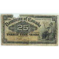 Канада (доминион Британии), 25 центов 1900 год. - RедкаЯ -