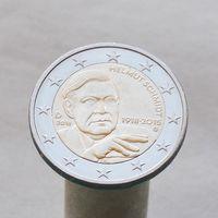 Германия 2 евро 2018 G 100 лет со дня рождения Гельмута Шмидта