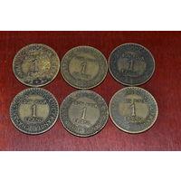 Франция 1 франк (21,22,23)