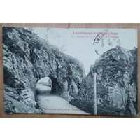 Старинная открытка. В горах Вогезы. Франция. Подписана