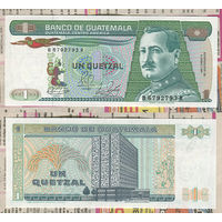 "Распродажа коллекции. Гватемала. 1 кетцаль 1989 года (P-66a.7 - 1983-1989 ""Printer G&D"" Issue)"